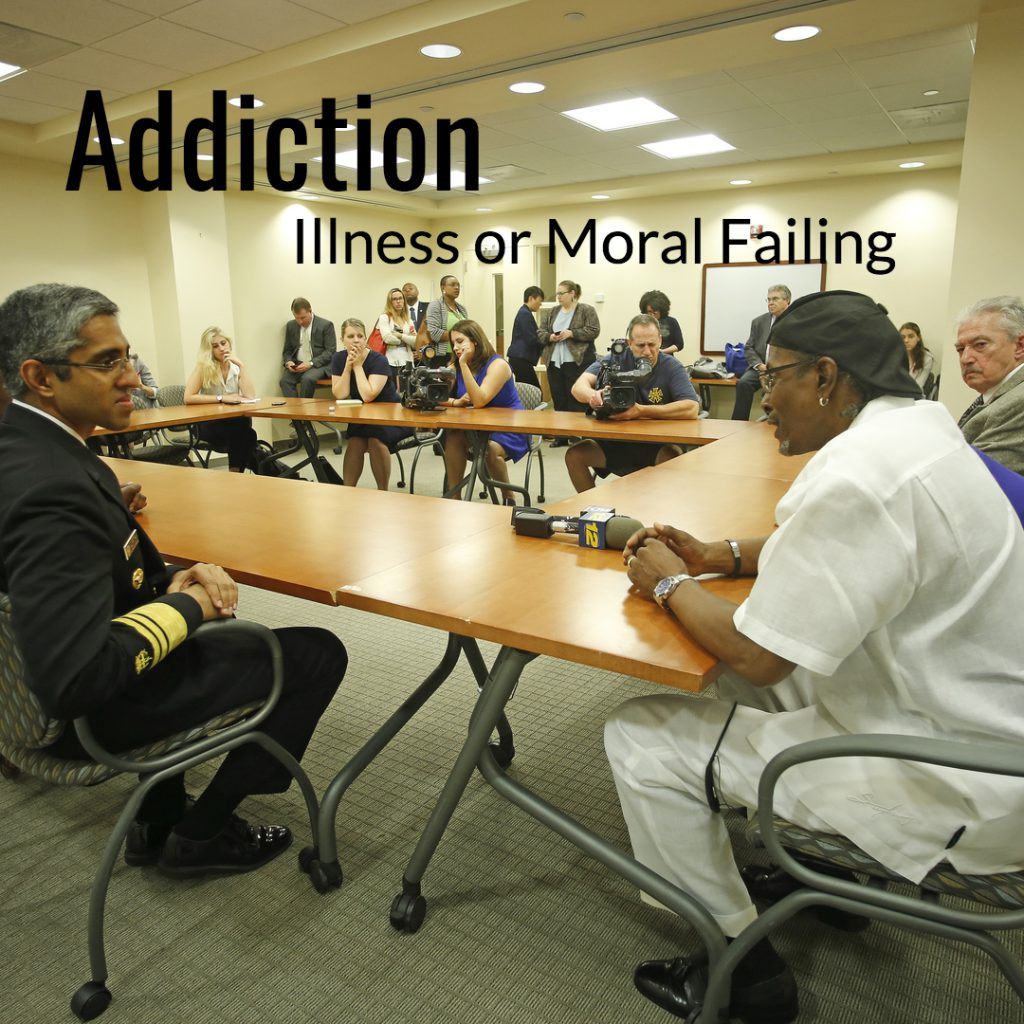 addiction disease model vs moral model
